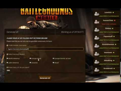 PUBG Mobile Free UC Generator 2019 Free Access | places to visit