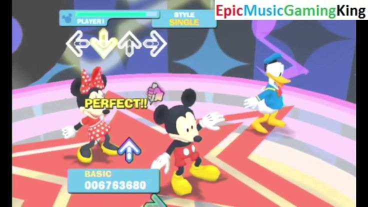 """Dance Dance Revolution Disney Grooves Gameplay - """"M.C. Mickey"""" - High Score Of 18940965 Points This video features my Dance Dance Revolution Disney Grooves gameplay as I dance to the """"M.C. Mickey"""" Song sung by Mickey Mouse. and achieve a high score of 18940965 points. The objective of this rhythm game is to follow the dance moves represented by the arrows that are featured in the on-screen music video as accurately as possible in order to make an earnest attempt to earn the highest possible…"""