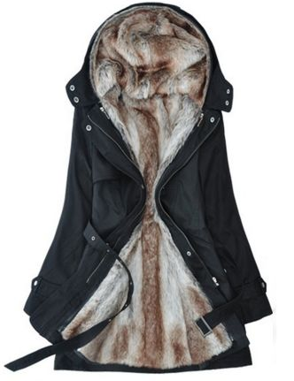 Fur Buckle Down Jacket i sooo want this patrick buy it for cristmas