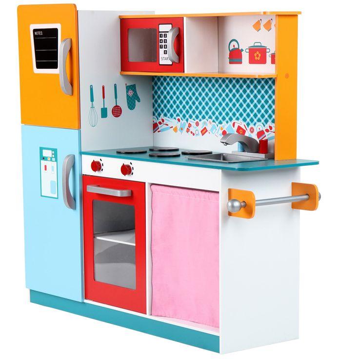 infantastic cocina de juguete con frigorfico horno y microondas