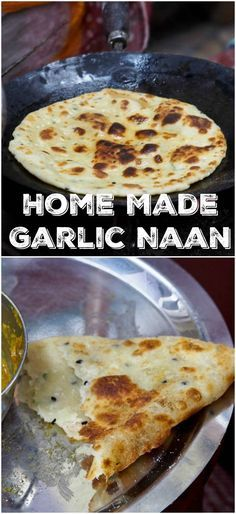 An authentic recipe for the classic Indian flat bread - garlic naan. My all time favorite bread for dipping into rich and creamy Indian curries. Only 4 ingredients required   avocadopesto.com