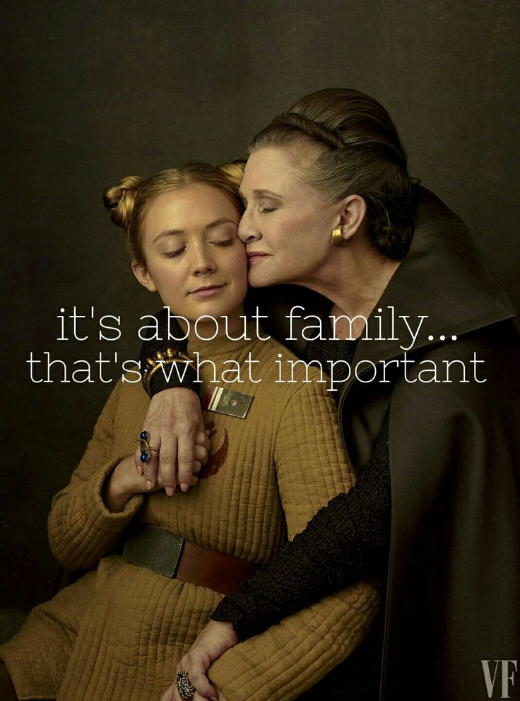 Princess Leia & Lieutenant Connix (Carrie Fisher & Billie Lourd)
