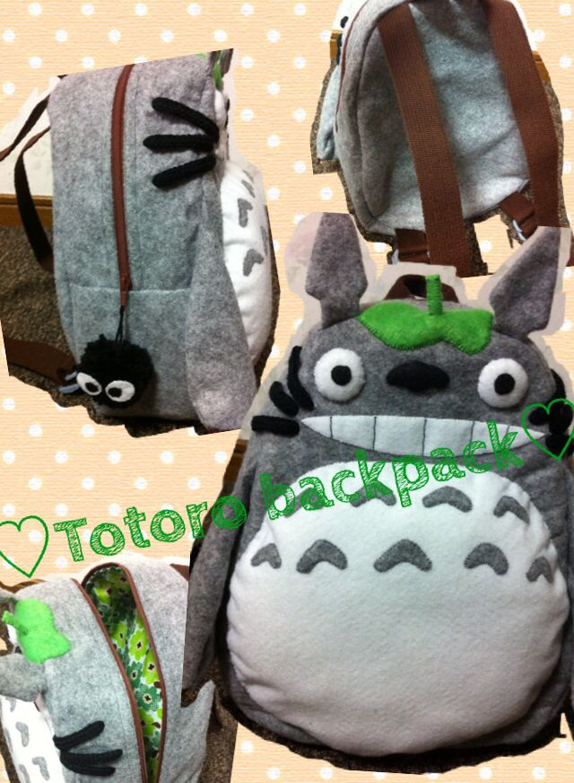 Totoro backpack for Kendall, my future niece
