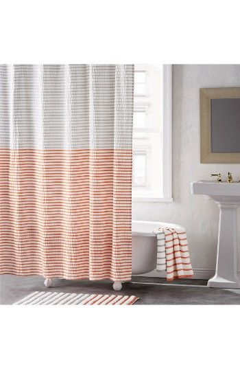 Free shipping and returns on DKNY Shower Curtain at Nordstrom.com. Two-tone stripes play up the modern style of a minimalist shower curtain that pulls together your bathroom décor.