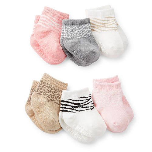 "Carter's Girls 6 Pack Animal Socks - 3-12 Months - Carters - Babies ""R"" Us"