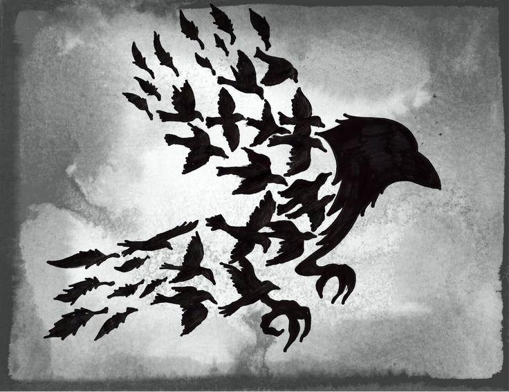 оплаты черно белые картинки птицы из спины предложения