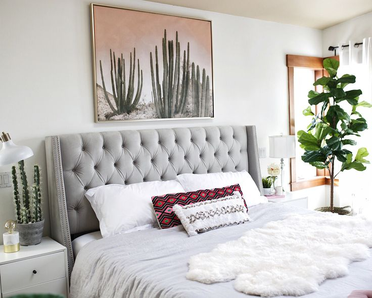 Finally found the perfect 🌵 piece for above our bed -- and it's under $150! Oh you see that fiddle 🍃 tree... it's fake! I have the blackest thumb so faux is my friend. 🤣 Shop everything in my bedroom by signing up @liketoknow.it and 'liking' this photo to get links directly in your inbox or copy & paste direct link in your browser 👉🏼 http://liketk.it/2qol6 @liketoknow.it.home #liketkit #ltkHOME