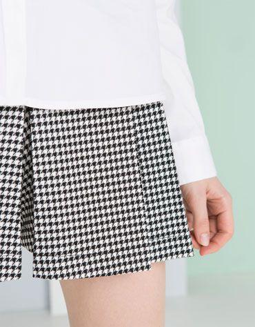 Bershka Polska -Fakturowane spódnico-spodnie BSK
