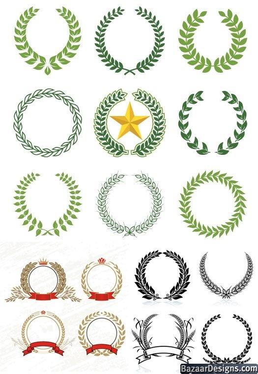 laurel wreath 2 | Graphics and Printables | Pinterest