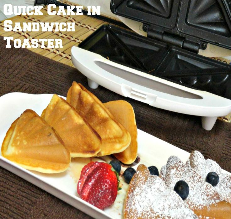 Quick Cake in Sandwich Toaster. #cake #quickrecipe