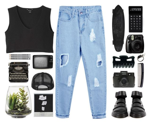 """{ Hermit The Frog }"" by cris-love ❤ liked on Polyvore featuring мода, Holga, Denman, LEXON, AS29, Monki и Threshold"