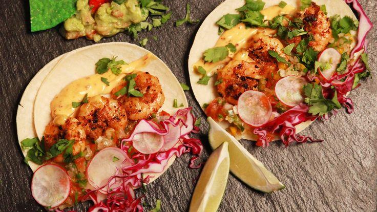 Tacos aux crevettes cajuns grillées sur le BBQ   Zeste
