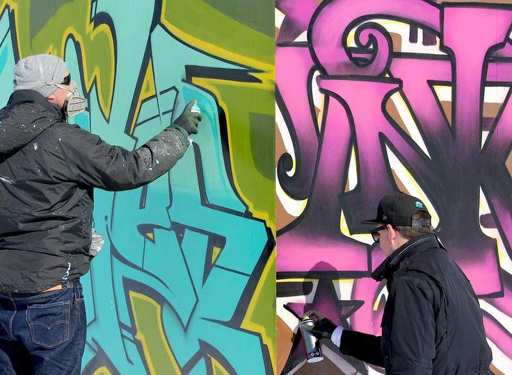 Great teamwork @Great_Bates & @inkiegraffiti #tbt #urbanartroom #sälen @skistar #spraycanart #graffiti #streetart