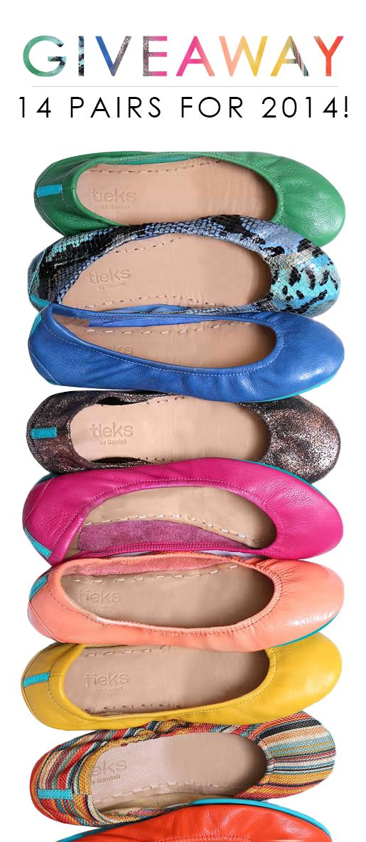 We're giving away 14 pairs of Tieks in our biggest giveaway ever! Enter at www.tieks.com/win14 by 1/28. Good luck, Tieks fans!
