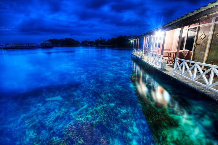 Floating house at Karimunjawa island,Central Java,Indonesia