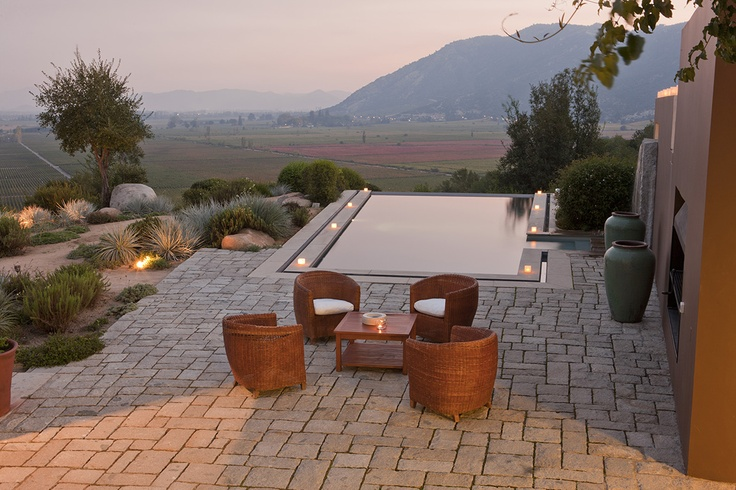 Relais & Chateaux - The winery and Lapostolle Residence are nestled in the hills of Apalta, with spectacular views of the Colchagua Valley #Colchagua Chile