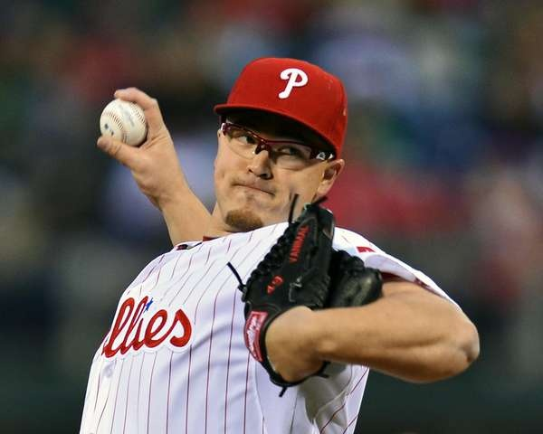 Phillies starting pitcher Vance Worley
