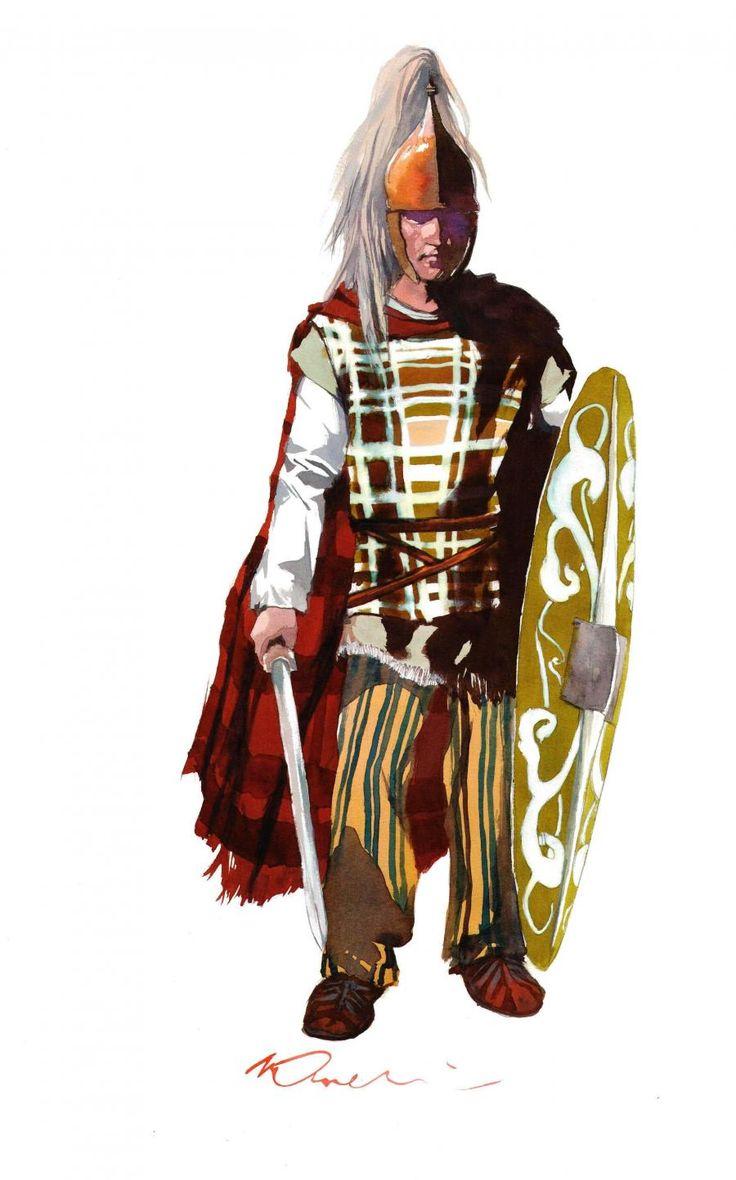 Guerrier celte - encres sur papier // Celtic Warrior - watercolor