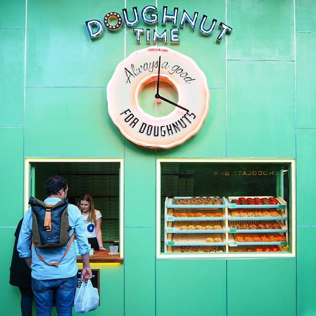 Checking out Doughnut Time at #centralparksydney! You don't know how long I waited to get this shot, everyone kept staring through the window. I don't blame them though, these are gorgeous! When I shoot in public places, I try to avoid disrupting life as it's happening - hence the wait ;)