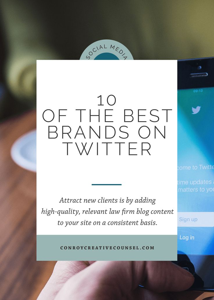 23 best content law firm lawyer maketing images on pinterest 10 of the best brands on twitter conroy creative counsel fandeluxe Choice Image