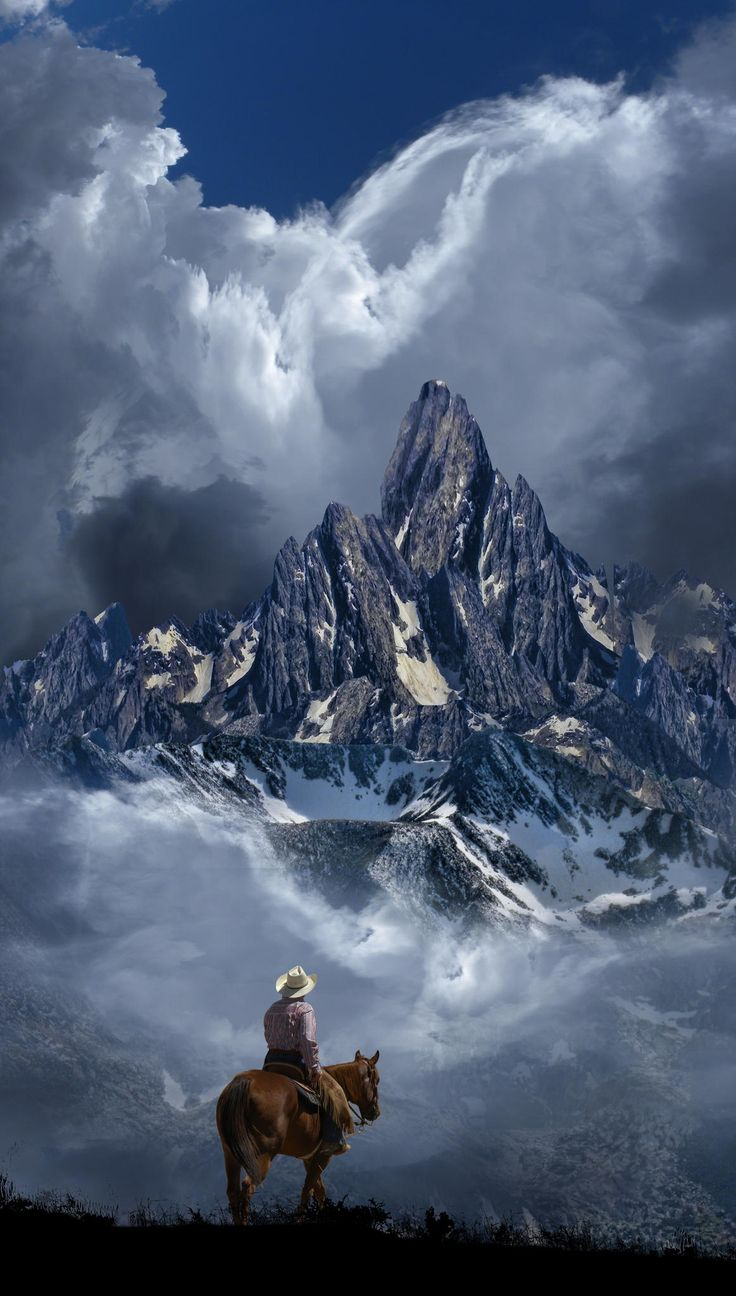 cowboy in the mountains