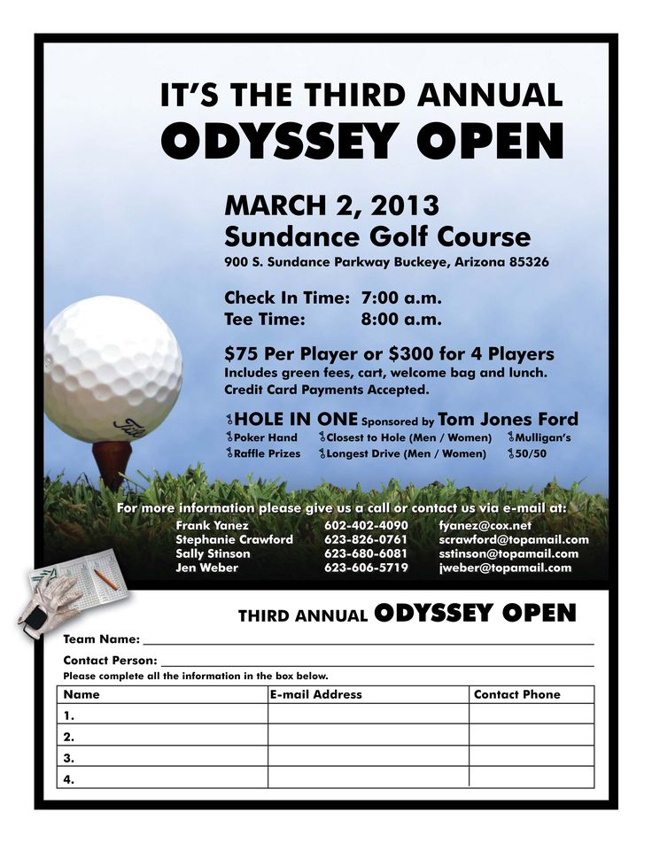 odyssey golf tournament 2013