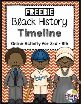 Freebie! Great one page computer activity. Students research an important African American and create a timeline using the computer. Also included in my very complete Black History Literacy Set for 4th/5th graders.