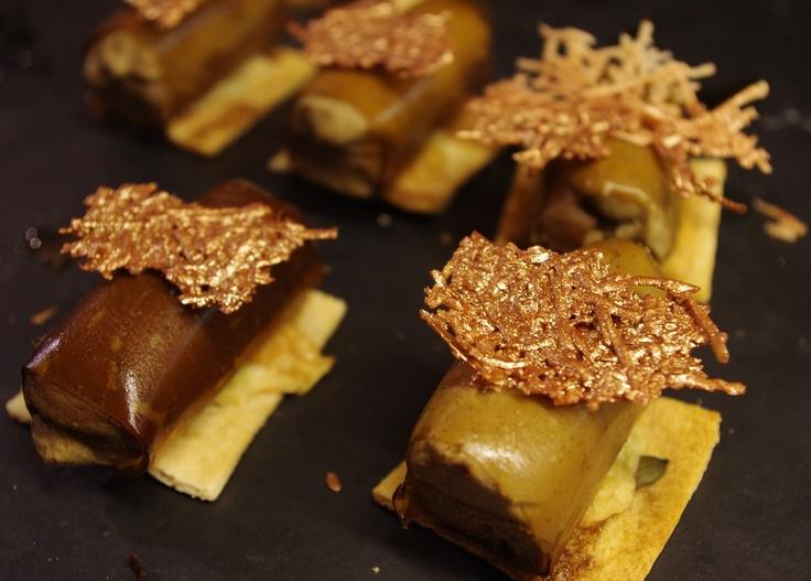Pedro de Ximenez Caneloni w/ Toadstool Pate on toast of pumpkin and sunflower seeds and golden idiazabal cheese - Bar Zeruko.