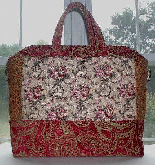 Shabby Roses Carpet Bag, Tapestry Carpet Bag, Travel Shoulder Strap
