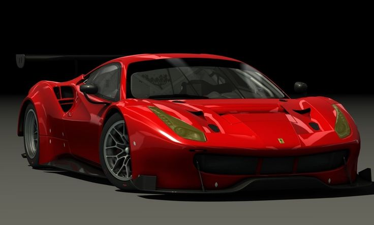 'Ferrari 488  GT3' by limerockpark. The Ferrari 488 GT3 is the the racing versio…