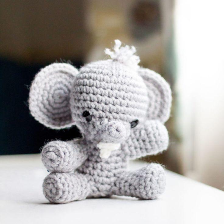 Mejores 520 imágenes de ELEPHANTS CROCHET en Pinterest | Patrones ...