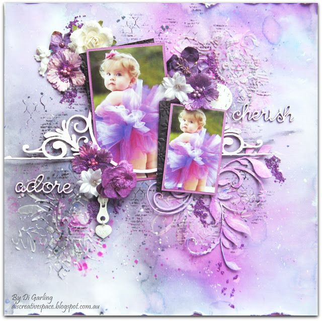 2Crafty Chipboard - Two Layouts To Share By Di Garling