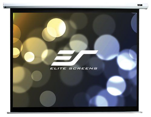 Elite Screens Electric85X Spectrum Electric Projector Screen (85 inch Diagonal 16:10 Ratio 45Hx72W) 16:10 Aspect Ratio; Diagonal Size: 85?; View Size: 45?Hx72?W; Overall Size: 55.1?Hx84.3?W. MaxWhite 1.1 gain screen material with standard black backing eliminates light penetration. 4 side black borders enhance picture contrast and absorb light overshoot.. Includes 5-12 volt trigger to synchroniz... #Elite_Screens #CE