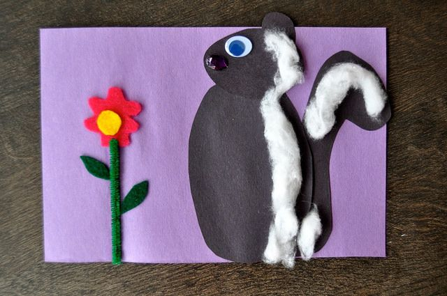 Skunk #craft with cotton balls by SortingSprinkles, via Flickr