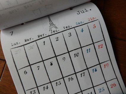 2015年*フランス カレンダー