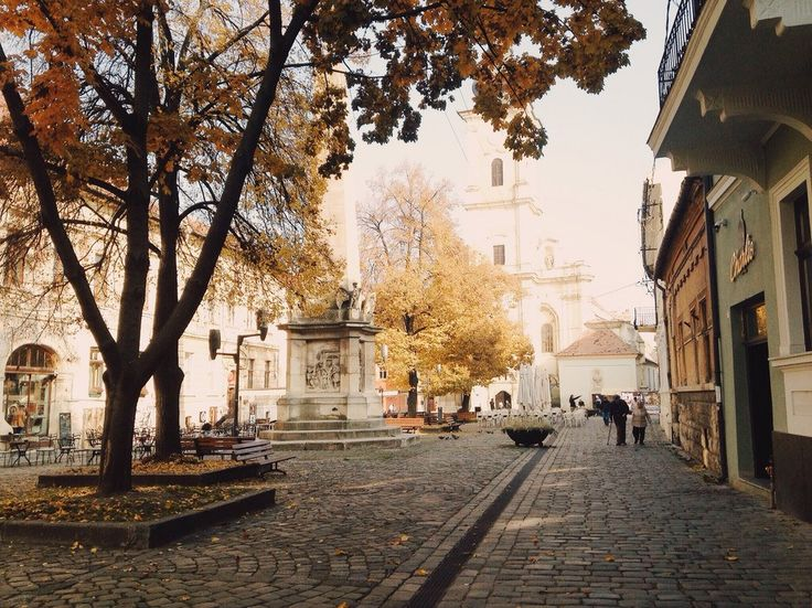 """""""My favorite square in Cluj-Napoca is the old town Museum Square. It's probably best to visit when it's coated in fall colors. The cobblestone, cozy cafes, people wandering about their business…here, you can really feel the bohemian vibe of the city."""""""