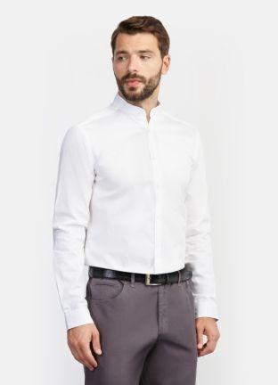Стильная однотонная рубашка за 2499р.- от OSTIN