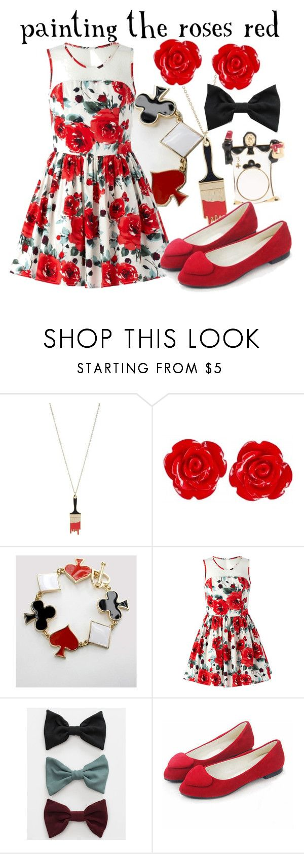 """Painting the Roses Red"" by princesschandler ❤ liked on Polyvore featuring Me & Zena and American Apparel"