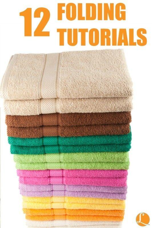 12 Folding Tutorials To Help Organize Your Closets! organization ideas #organization #organized