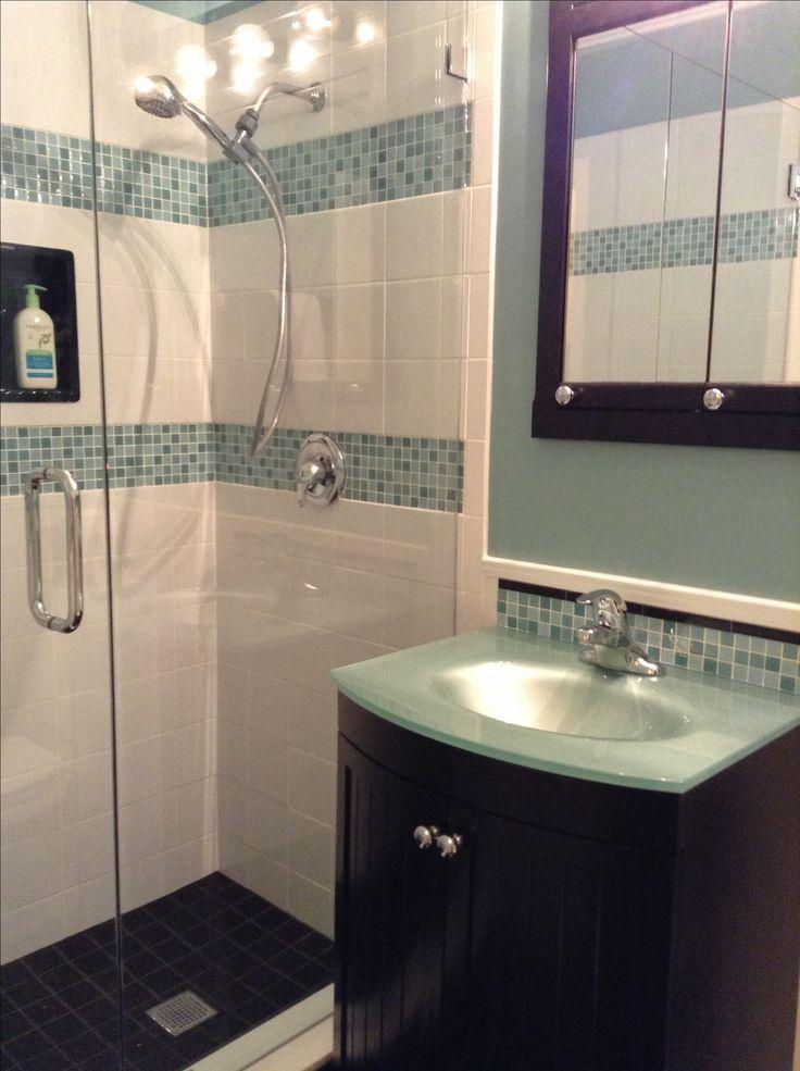 87 best small bath ideas images on pinterest bathroom for Small hall bathroom remodel ideas