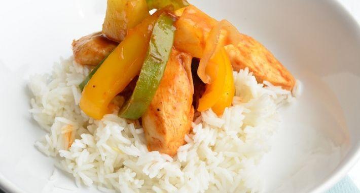 Een lekker Voedselzandloper recept is kip in zoetzure saus.