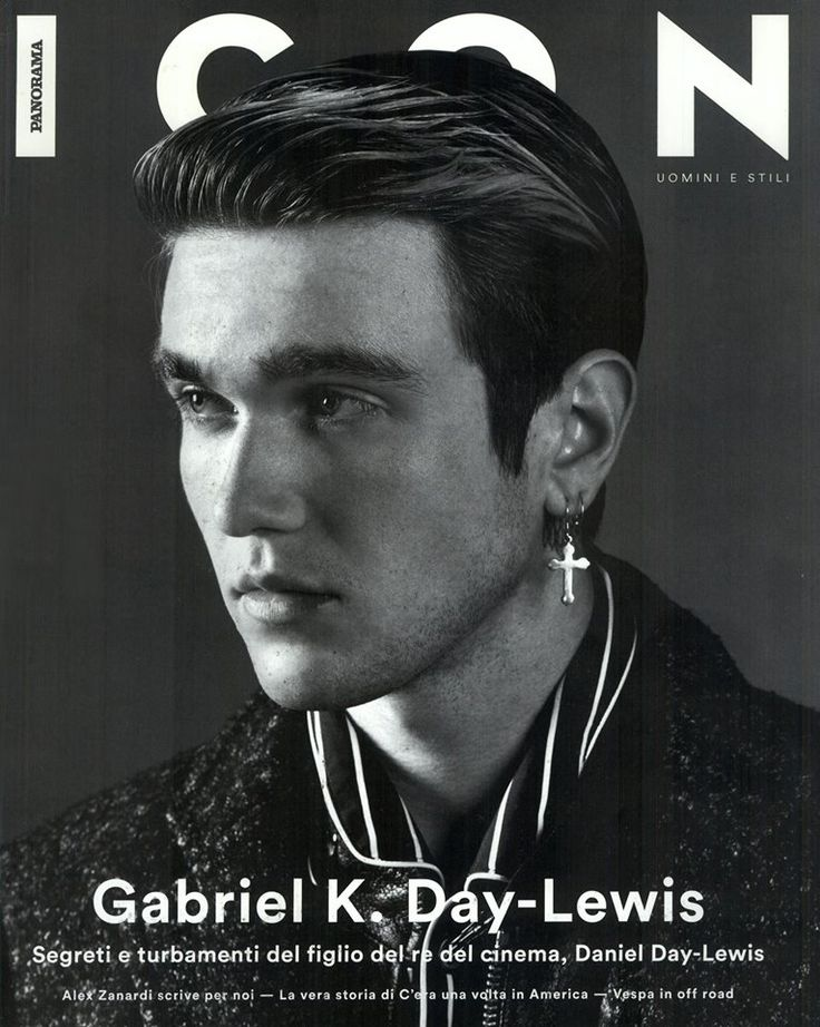 Fay star Gabriel-Kane Day-Lewis strikes a handsome profile on the cover of Icon.