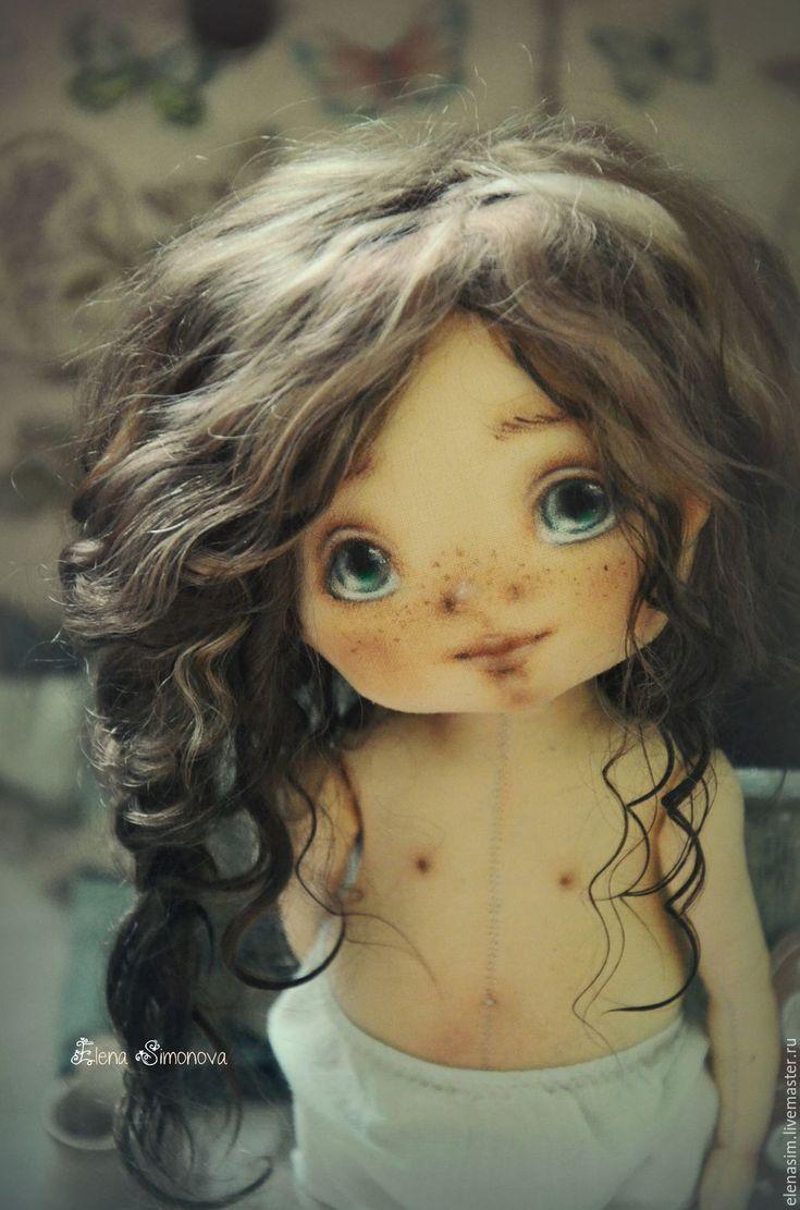 Купить Кэти - текстильная кукла, интерьер, интерьерная кукла, авторская, коллекционная кукла, выкройка