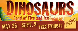 Free Dinosaur Exhibit at Crown Center