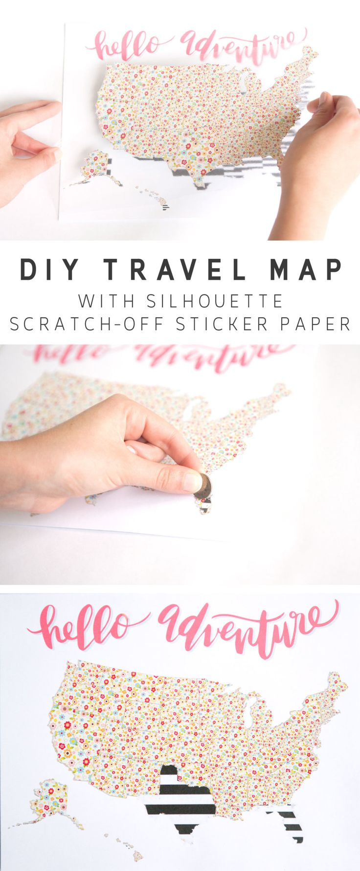 DIY Travel Scratch Map Made With Printable Scratch-Off Paper – Silhouette America Blog