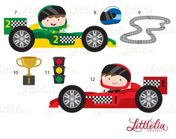 Race Cars Clipart Racer Clipart 15081 Etsy In 2021 Clip Art Baby Illustration Fun Projects