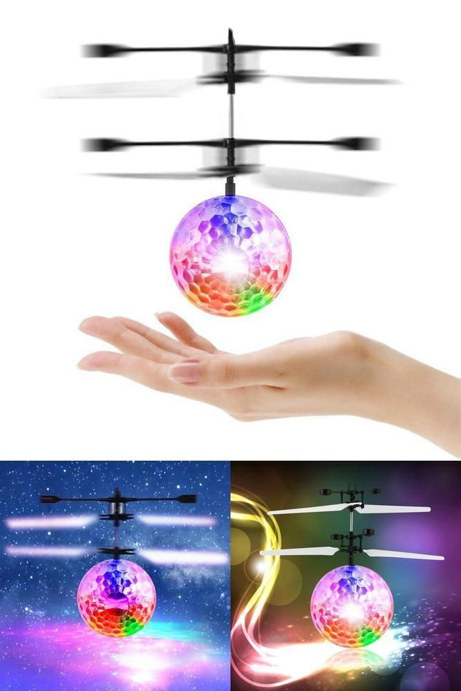 RC Helicopter Toy Colorful Flying Ball LED Lighting for Kids Christmas Gift New #Toy