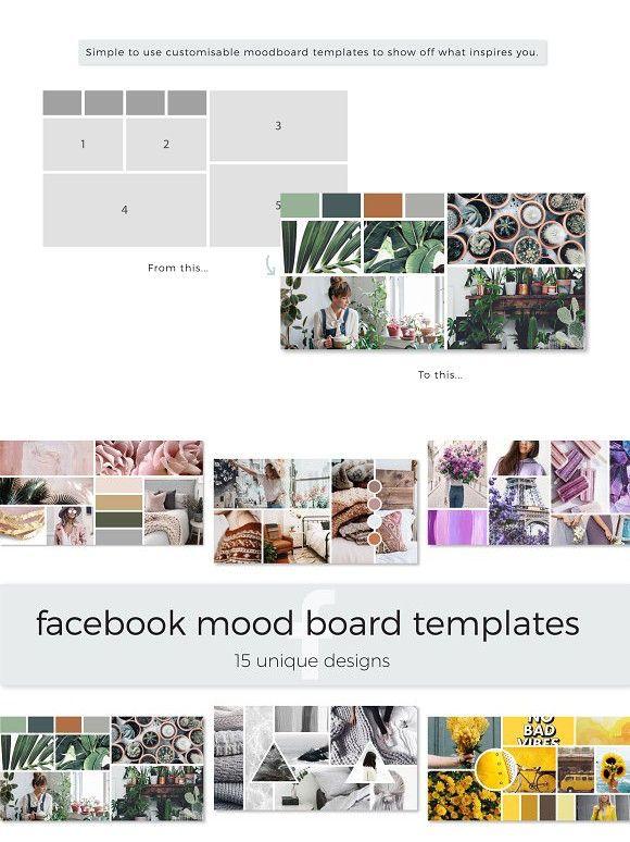 Facebook Mood Board Templates Mood Board Template Mood Board Web Design Resources
