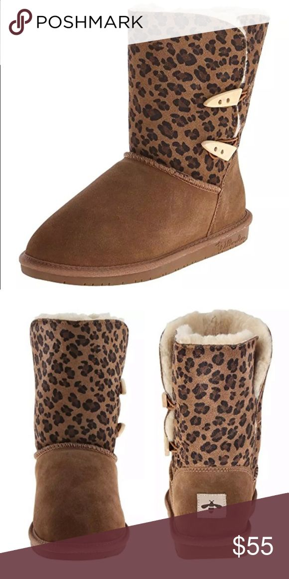 🆕List! Suede Leopard Print Winter Boots! NIB! Real leather suede. Remaining is shearling and man made. Size 6. New! Willowbee Shoes Winter & Rain Boots
