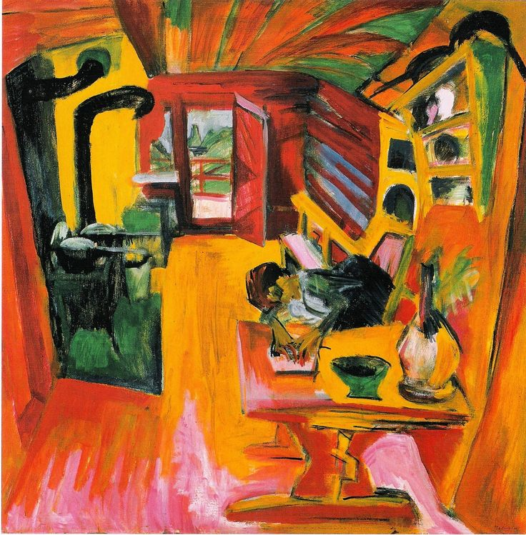 """Ernst Ludwig Kirchner was a German expressionist painter and printmaker and one of the founders of the artists group Die Brücke or """"The Bridge"""", a key group leading to the foundation of Expressionism in 20th-century art"""